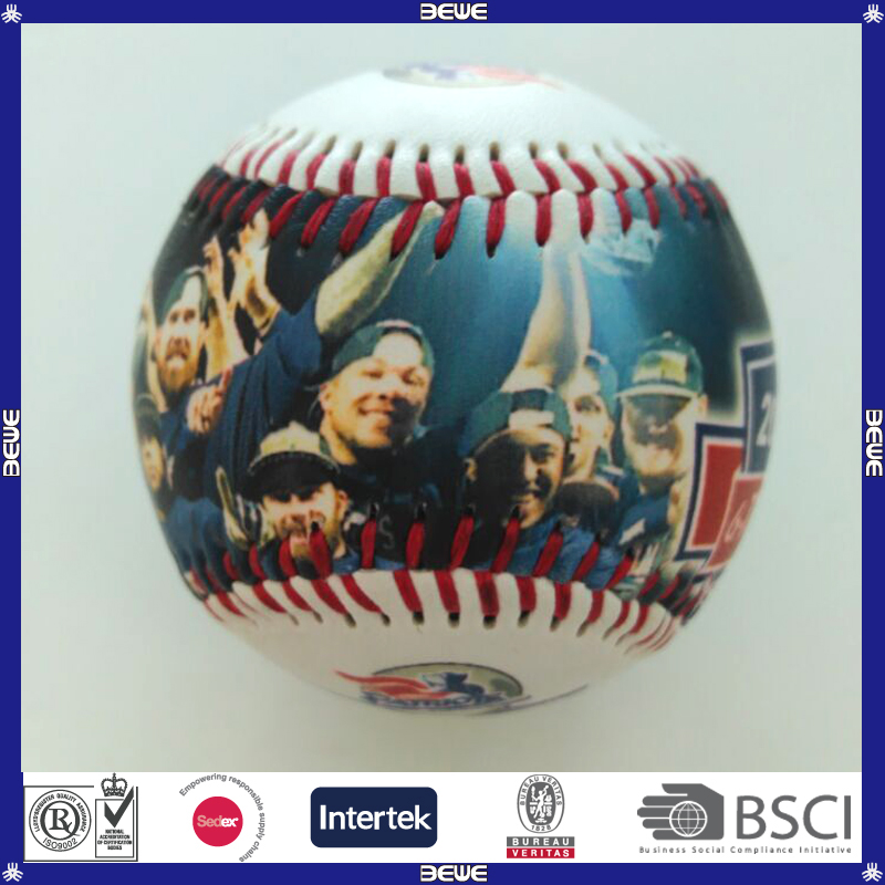2017 factory made OEM logo printed cheap promotional PVC leather baseball