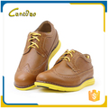 New fashion design soft rubber sole leather men dress shoes