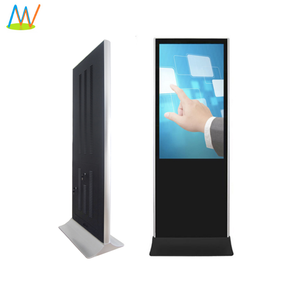 "55"" free standing android touch screen digital signage station lcd kiosk advertising player 4g wifi network"