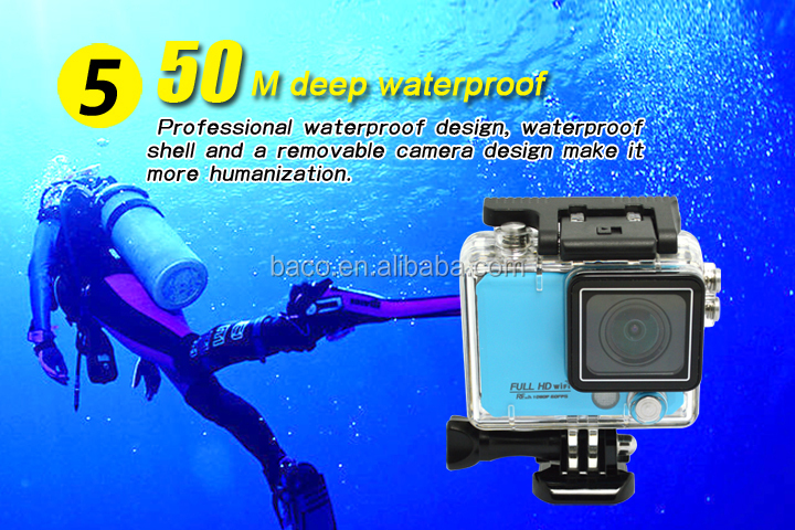 2015 new model waterproof full HD1080P sport camera remote control wrist remote