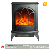 Walmart, Home Depot supplier wood stove style electric fireplace heater