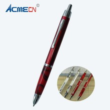 ACMECN New arrival Office Writing Instrument Metal Slim Twist Ball Pen Propelling Acrylic Ballpoint Pen