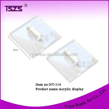 4cm square acrylic Nail Art Display nail art tool