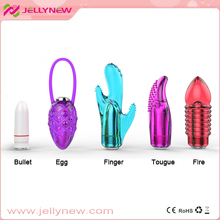 Funny sex toys ! finger ring vibrator & 7 speed bullet vibrator