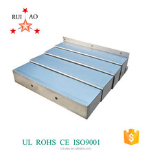 telescopic steel plate guard cover protective concertina cover for guide way