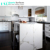 Prefab White Quartz Kitchen Countertops with Veins
