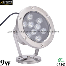 Factory price low voltage 9w IP68 led underwater fountain light