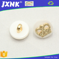 custom white cover button resin sewing button for fur coat