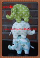Circle elephant best selling custom cartoon character girl plush toy