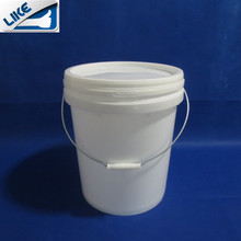 5 UK gallons pail pack plastic round buckets metal plastic handle optional