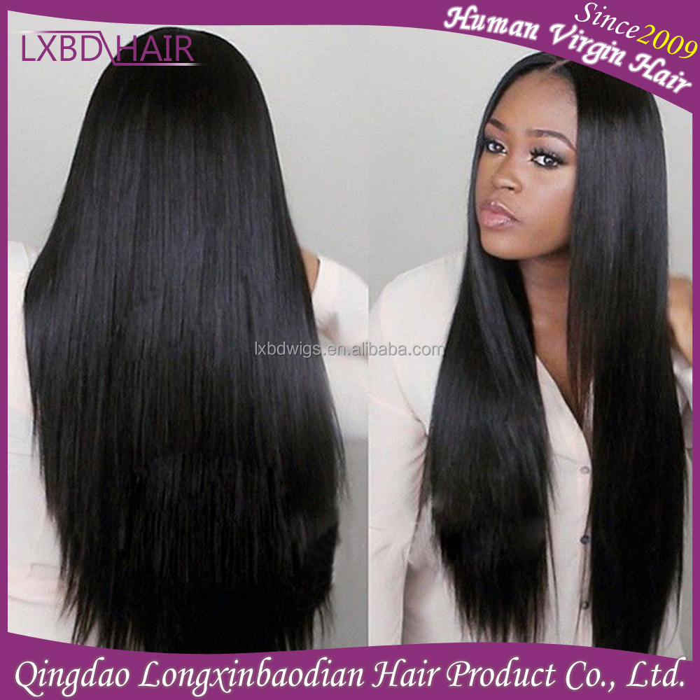 Wholesale Brazilian Virgin Human Straight Hair Lace Front Wig