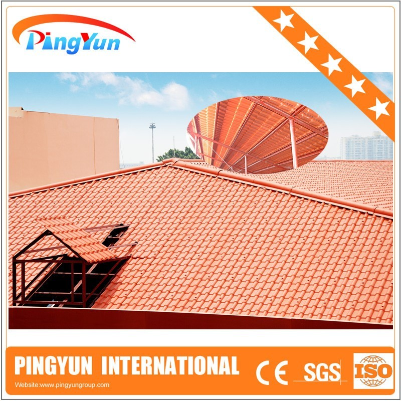 Synthetic resin roof tile/color stable light weight/ASA coated pvc roof sheet