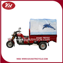 2016 Economical 150cc/200cc/250cc cargo three wheel motorcycle/cargo tricycle with closed cabin