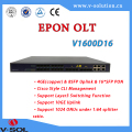 FTTH Fiber optical line terminal EPON OLT 16PON 1U height 19 inch layer 3 switching