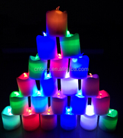 Hot selling Simulation led candle light , battery operated simulation candles ,LED piilar wax candle light