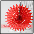 "16"" RED Polka Style Hanging Paper Decorative Fan birthday Decoration"