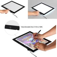 Ultra Slim A3 SIZE LED Tracing Drawing Pad Dimmer Light Box