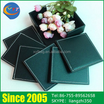 White-collar leisure time coffee cup mats,pu coasters,black cup mats