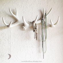 Resin Deer Multi-antlers wall mount decorative wall hook