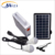 Multi-function portable solar lighting system with USB charger and radio