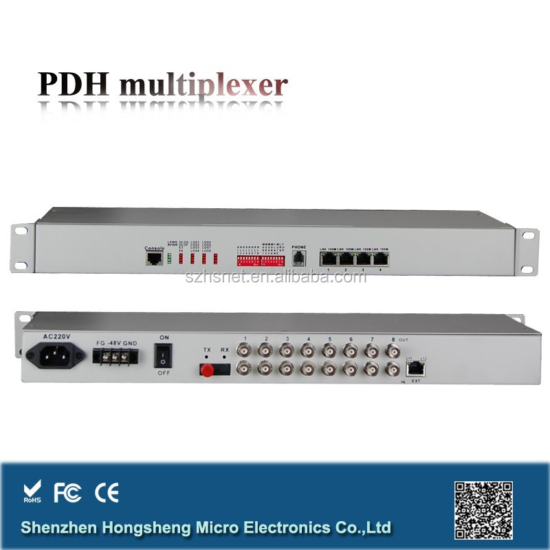 8e1 over fiber pdh multiplexer