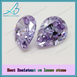 Wholesale aaa quality lavender colored cubic zirconia loose stones