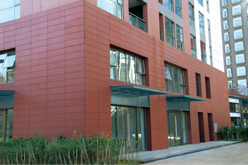 Terracotta Facade Panels With Fixing Accessories System