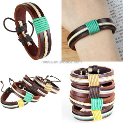 fashion wholesale leather bracelet italian leather bracelets NS-PY-025
