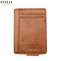 VICUNA POLO Genuine Leather Wallet Ultrathin