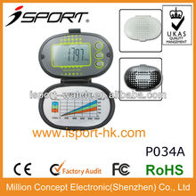 2D simple pedometer with cover calorie step counter/tracker