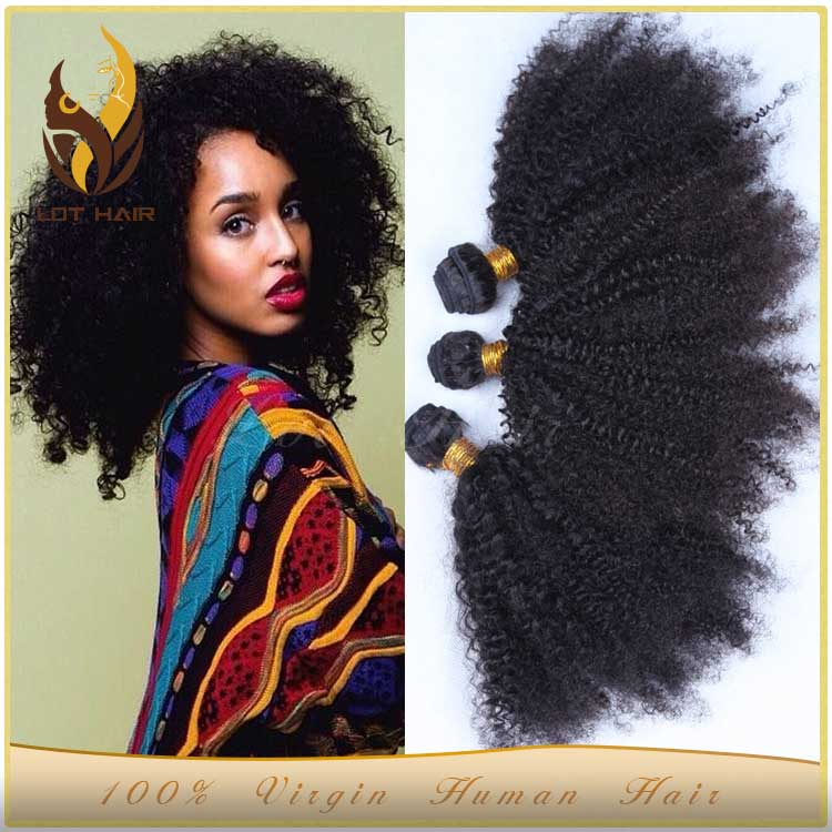 Hot selling high quality grade 6a wholesale price afro kinky human hair weave