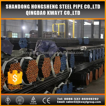 Hot rolled round seamless steel pipe