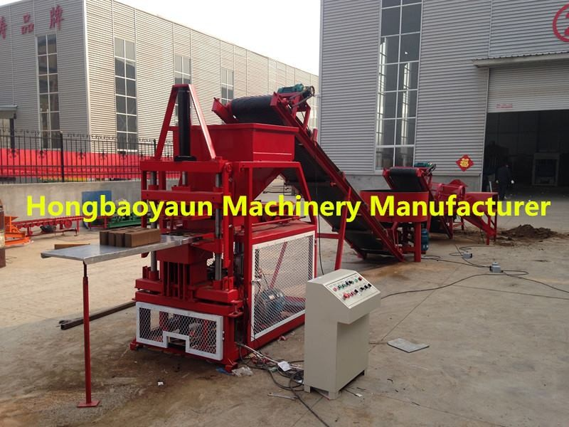 interlocking compressed earth block machines HBY2-10 Double capacity for construction buildling