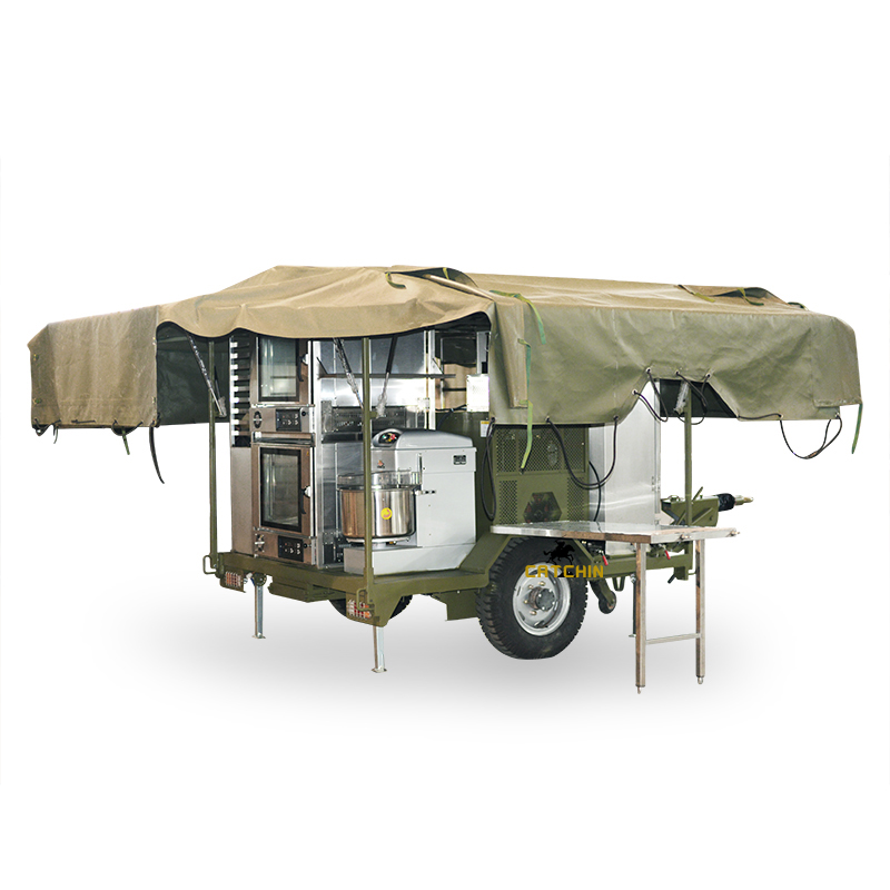 Army mobile field bakery trailer outside bakery trolly military mobile field bread cooking catering trailer military equipment