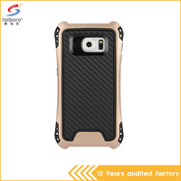 wholesale alibaba gold color hybrid armor shockproof back cover case for samsung galaxy s6 case
