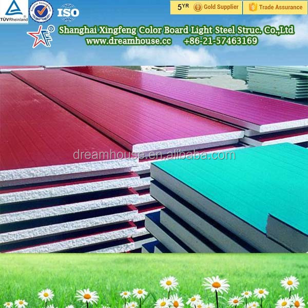 PPGI Fireproof Lightweight EPS Sandwich Panel With Good Price