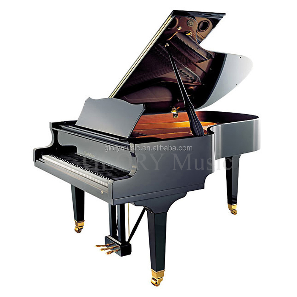 Import musical instruments BLACK POLISHED WOODEN grand piano prices, GOOD PRICE