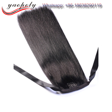 Best Selling wholesale aliexpress 100% Malaysian Virgin Hair Weave Straight Black Natural Grade 7A Top Grade Human Hair Ponytail