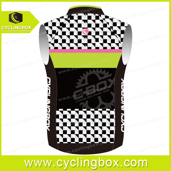 2015 CYCLINGBOX Custom men cycling windproof jacket and vest