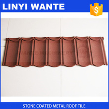 heat insulation building material antique color stone coated metal roof tile