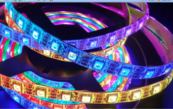 4m DC5V IP65 WS2812B led digital strip,60pcs WS2812B/M with 60pixels;57.6W;white pcb;waterproof in silicon coating