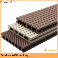 European style Wood-Plastic Composite Flooring Technics composite decking with uv resistance