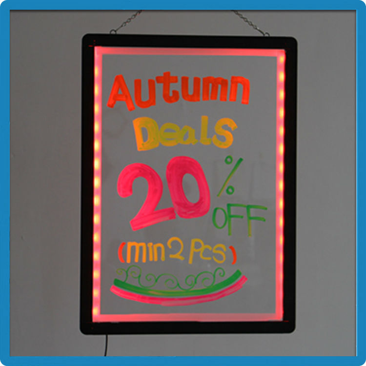Promotional gifts best aluminium alloy frame led neon sign and display RGB5050 high bright with remote control led optical acryl