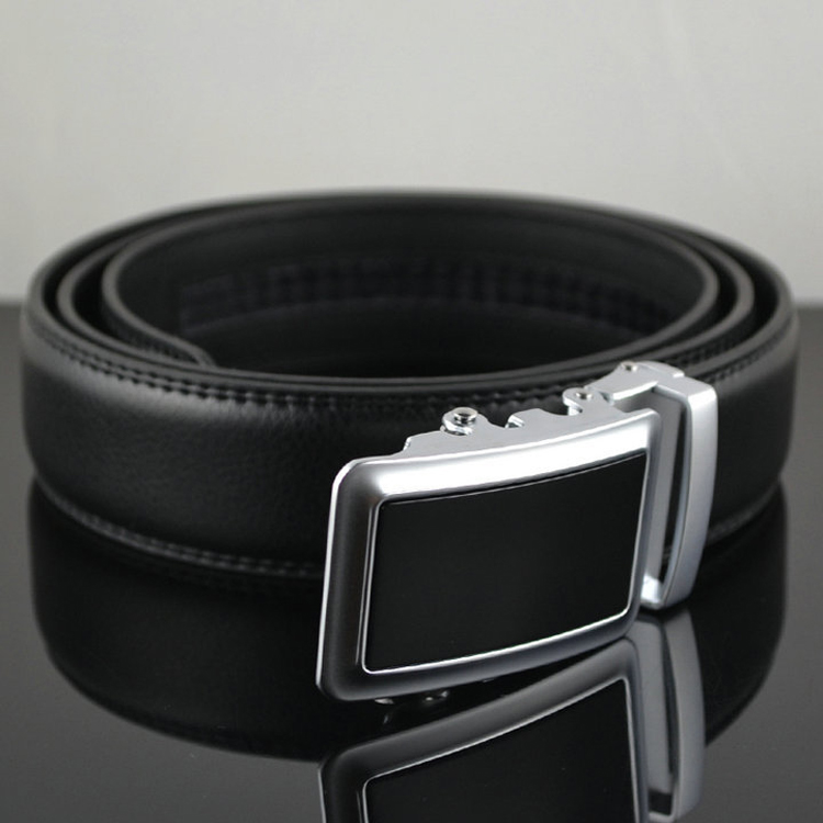 ab197 Office Leather Men Changeable Buckle Belt