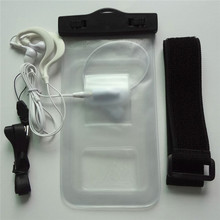 Free shipping transparent pvc travelling waterproof case for nokia watch mobile phone with headphone jack