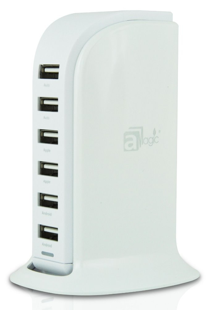 auto voltage 40W 6-Port mobile tablet USB Charger