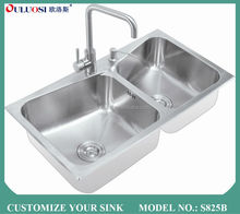 top level quickly producing pearl sand finish used commercial stainless steel sinks S825B