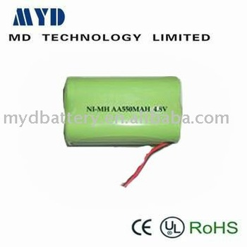 China supply high quality 4.8V 550MAH AA NI-MH BATTERY PACK