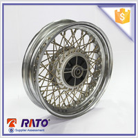 China 3.0*13 white RT125-12 motorcycle rear wheel for sale