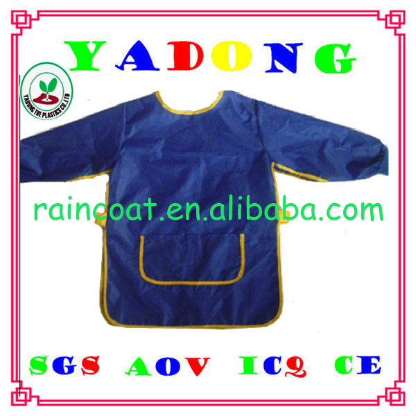 printing pvc waterproof children's plastic art smock